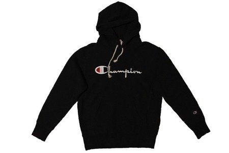 Champion Bluza Reverse Weave Big Logo Hooded Sweatshirt Black
