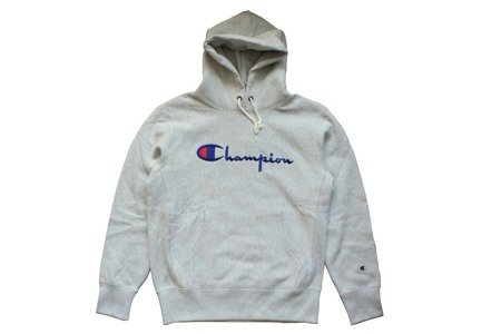 Champion Bluza Reverse Weave Big Logo Hooded Sweatshirt Grey Heather - FW18