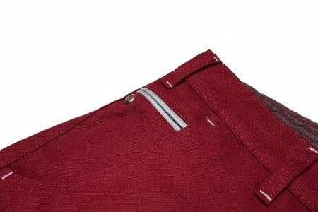 TURBOKOLOR Spodnie Trainer Chino - Burgundy - SS16